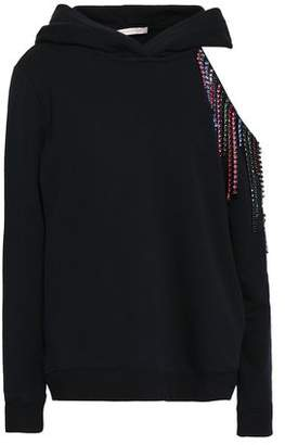 Christopher Kane Crystal-embellished Cutout French Cotton-terry Hoodie
