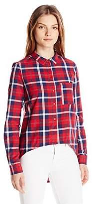Noisy May Women's Long Erik Sleeve High Low Shirt