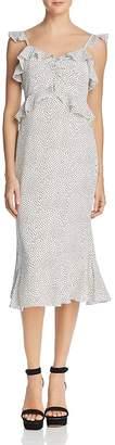 Lucy Paris Marissa Ruffled Polka Dot Dress