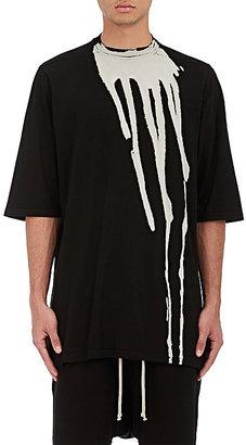 Rick Owens DRKSHDW RICK OWENS DRKSHDW MEN'S BLEACHED COTTON OVERSIZED T-SHIRT $545 thestylecure.com