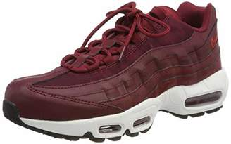 outlet store f1010 8f38b Nike Women s Air Max 95 Gymnastics Shoes Team Black Habanero Red 605