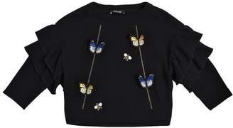 Knitted Cotton & Angora Sweater