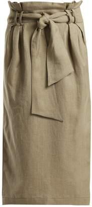 GABRIELA HEARST Jordan paperbag-waist linen pencil skirt