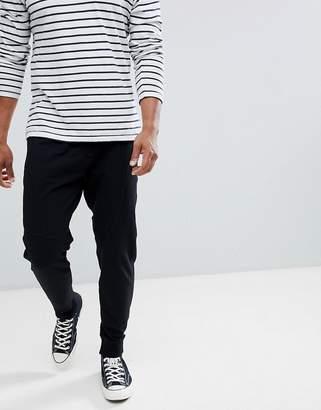 Abercrombie & Fitch side seam cuffed joggers in black
