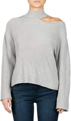 Elan International Bianca Cold-Shoulder Sweater