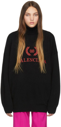 Balenciaga Black BB Turtleneck