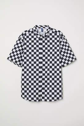 H&M Checkerboard Shirt - Black