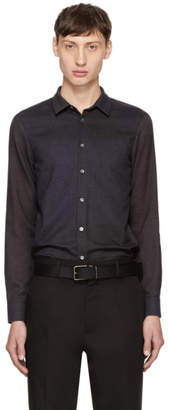 Stephan Schneider Navy and Grey Minute Shirt