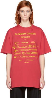 Raf Simons Red Summer Games Easy Fit T-Shirt