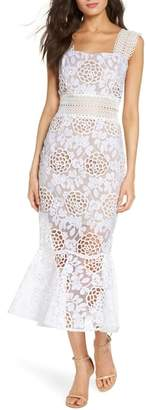 Bronx AND BANCO Capri Floral Lace Midi Dress