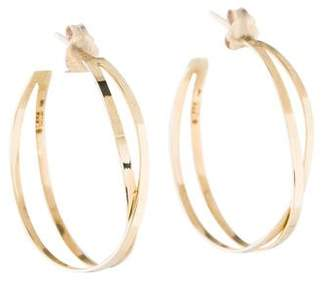 Lana 14K White Night Hoop Earrings