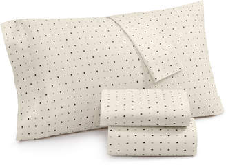 Lucky Brand Cotton Sateen 230-Thread Count 3-Pc. Ikat Dot Twin Xl Sheet Set, Created for Macy's Bedding