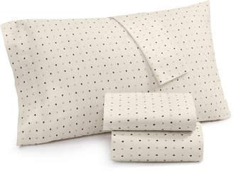 Lucky Brand Cotton Sateen 230-Thread Count Ikat Dot King Pillowcase Pair