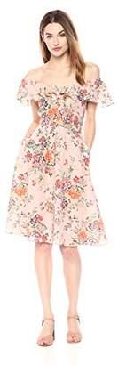 Rebecca Taylor Women's Sleeveless Marlena Ruffle Dress