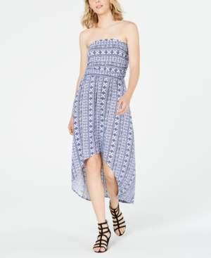 Ultra Flirt Juniors' Strapless High-Low Maxi Dress