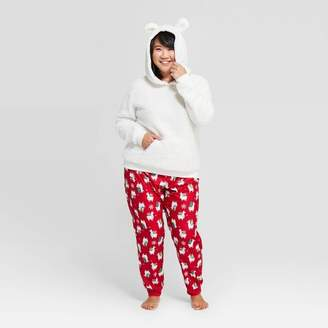 Wondershop Women's Holiday Llama Pajama Set - WondershopTM White