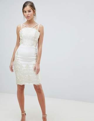 Cream Lace Prom Dress Shopstyle Uk