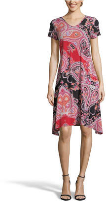 John Paul Richard Printed Dress with Back Detail