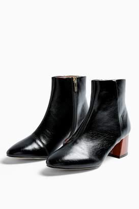 Topshop BIRCH Black Block Boots