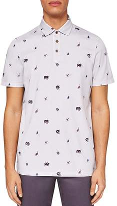 Ted Baker Newbear Print Regular Fit Polo
