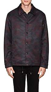 Barneys New York MEN'S CAMOUFLAGE INSULATED JACKET-WINE SIZE XL