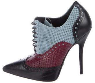 Gucci Brogue Lace-Up Booties