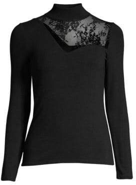 Generation Love Candace Lace Turtleneck Sweater