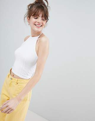 Monki Halter Neck Crop Top
