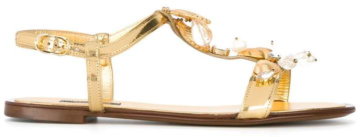Dolce & Gabbana seashell sandals