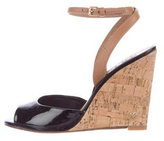 Tory Burch Tory Burch Patent Leather Wedge Sandals