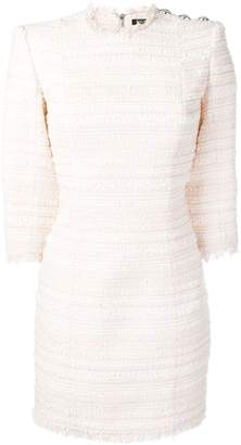 Balmain tweed fitted dress