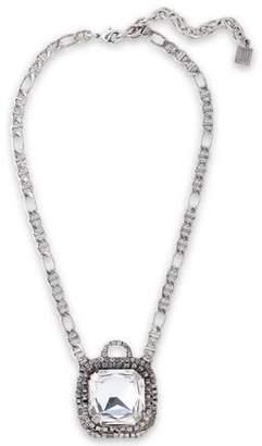 Dannijo Cyclamen Oxidized Silver-tone Crystal Necklace