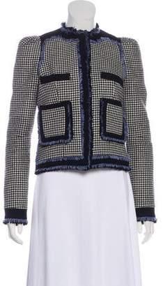 Balenciaga Houndstooth Button-Up Jacket