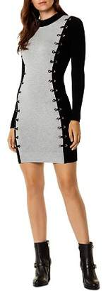 Karen Millen Lace-Up Grommet Dress