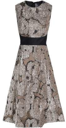 Lela Rose Juliet Tinsel-Appliquéd Taffeta Dress