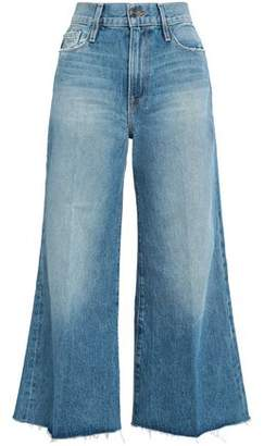 Frame Distressed Mid-Rise Flared Jeans