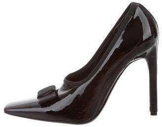 Balenciaga Balenciaga Bow-Embellished Patent Leather Pumps