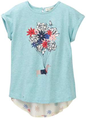 Jessica Simpson Doggie Flower Balloon Tee (Little Girls)