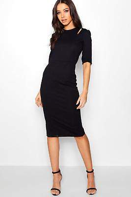 boohoo Womens Stevie Cut Out Midi Dress