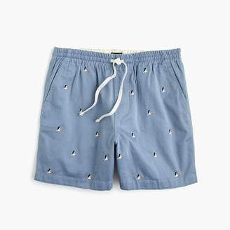 J.Crew Stretch dock short in pelican print