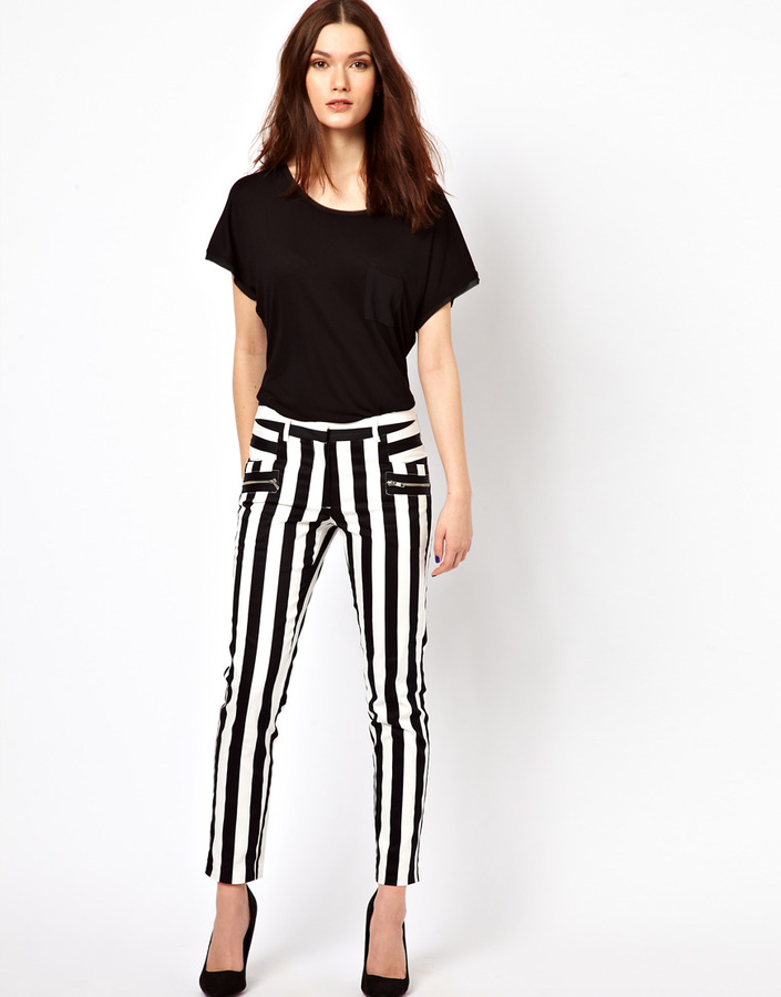 Warehouse Bold Stripe Skinny Pant