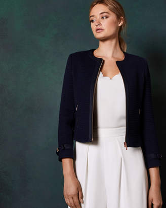 Ted Baker ENATOI Contrast trim bow detail jacket