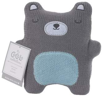 Grey Bear Knitted Plush Toy