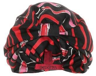 Valentino Printed silk turban