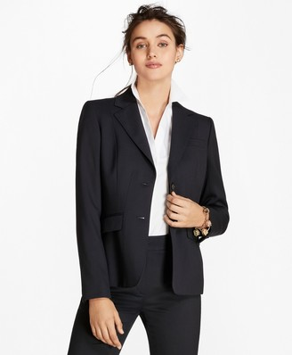 Brooks Brothers Petite Wool Two-Button Jacket