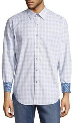 Robert Graham Classic-Fit Check Cotton Casual Shirt