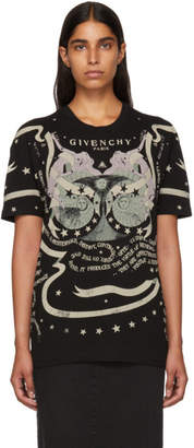 Givenchy Black Astrology Logo T-Shirt
