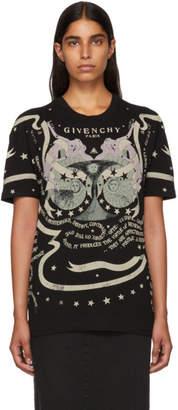 Givenchy Black Astrology Logo T-Shirt
