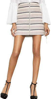 BCBGMAXAZRIA Lace-Up Mini Skirt
