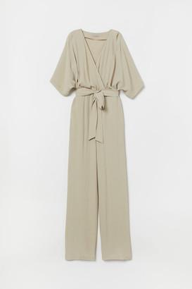 H&M Kimono-sleeved Jumpsuit - Beige